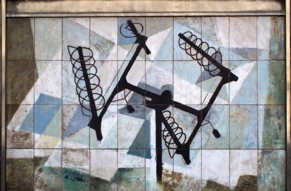 Dorothy Annan mural on the Fleet Building, London. Photograph courtesy Gordon Haws.