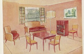 Illustration of living room from Lansbury 1951