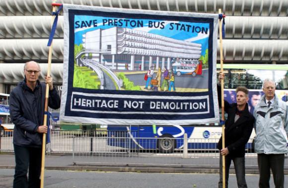 Save Preston Bus Station Banner