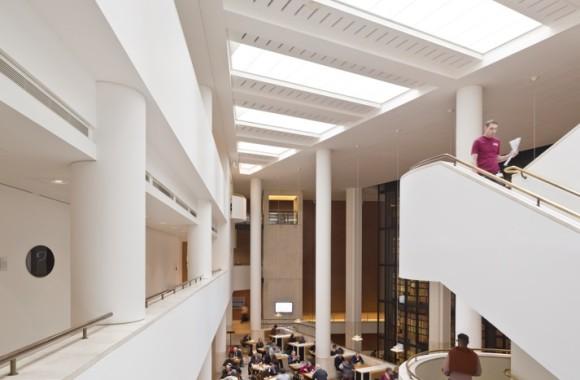 Foyer Architecture Library : The british library london — twentieth century