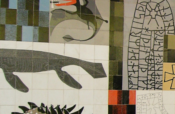 Gordon Cullen's ceramic tile mural for Lower Precinct Coventry