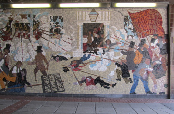 dismay as chartist mural bulldozed the twentieth century