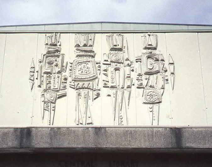 15 charles anderson concrete mural 1970 the twentieth for Telephone mural 1970