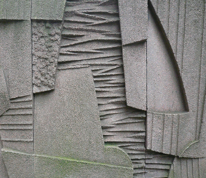 44 Keith Mccarter Abstract Wall Relief Concrete 1972