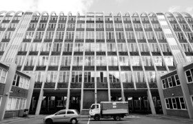 Domestic and Trades College, Manchester City Architect's Department, Leonard Cecil Howitt, the Toastrack, 1960