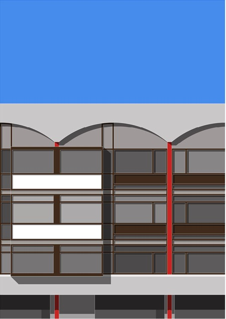 Oscar Francis, Crescent House (Golden Lane Estate), A2 Giclee Print from the Modern House London Series