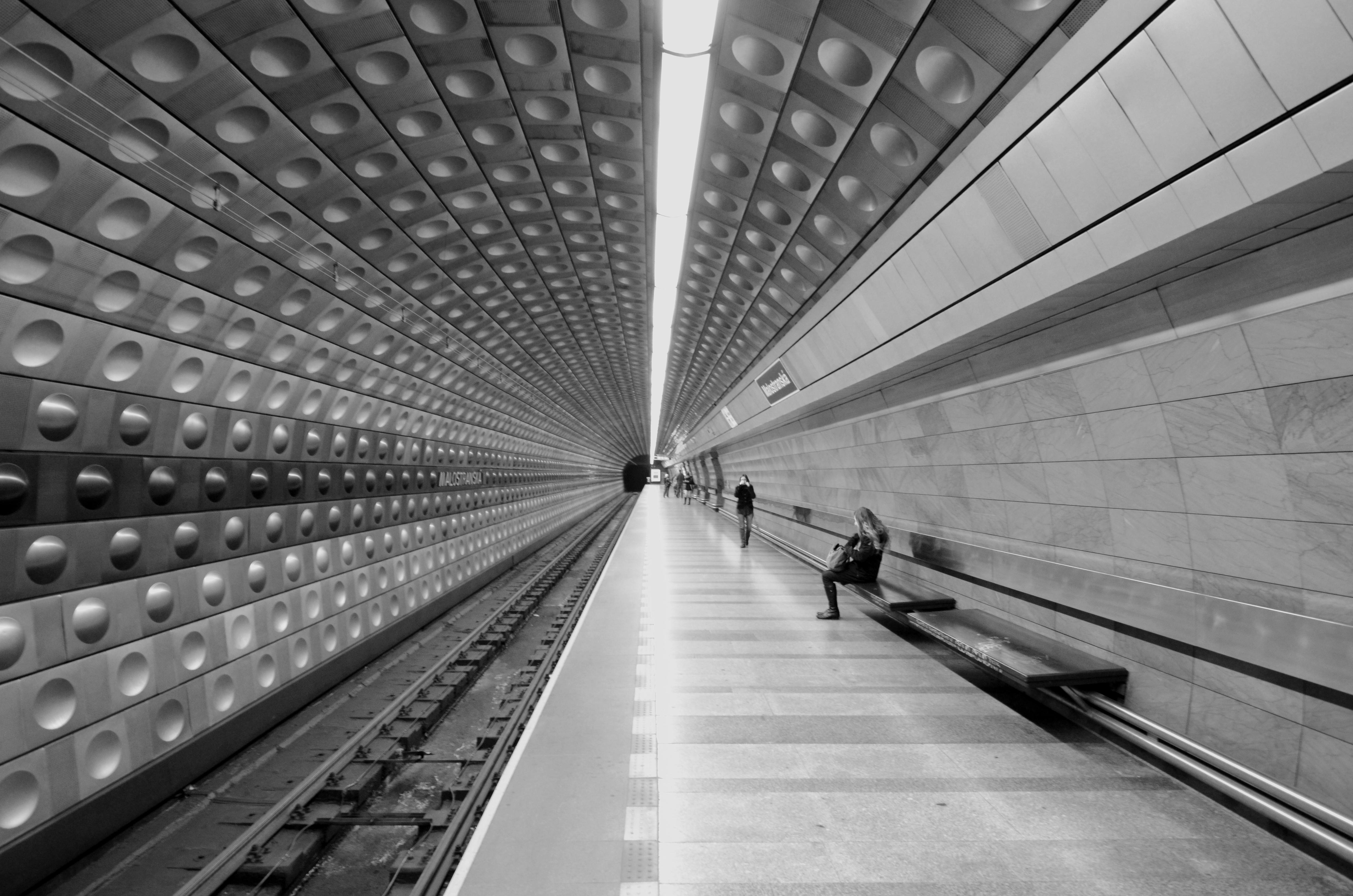 Malostranka Mrtro Station Prague