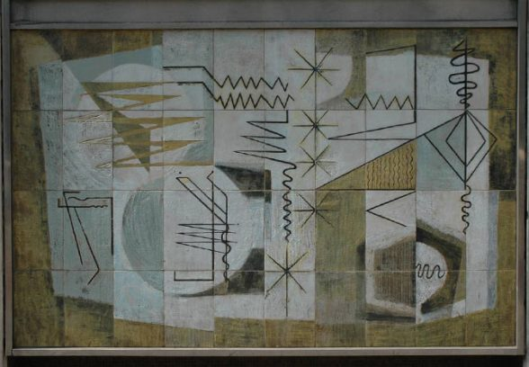 Dorothy Annan's mural, former post office building, Farringdon. Now located at the Barbican