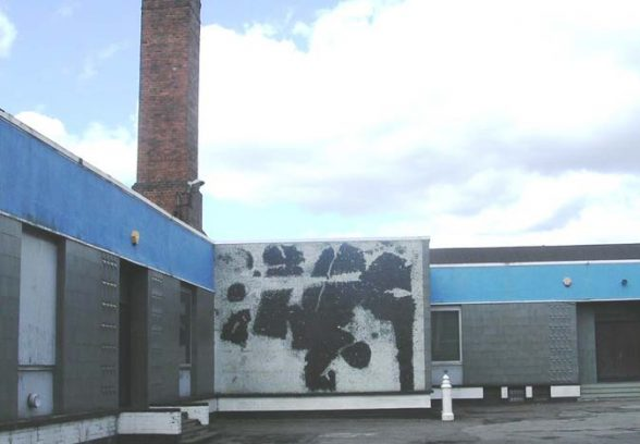 Harry Thubron's untitled mural at Gillison's Warehouse, Holbeck Village, Leeds, 1964