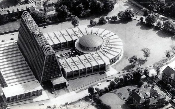 Domestic and Trades College, the Toastrack, Manchester City Architect's Department, 1960
