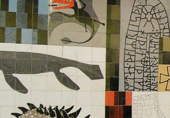 Gordon Cullen's ceramic tile mural for Lower Precinct Coventry