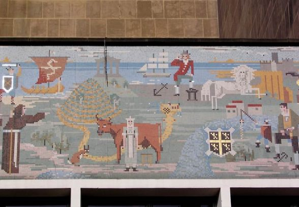 Messrs Clayton and Gelson mosaic for Durham County Hall, 1963, detail