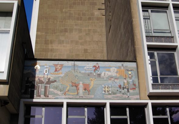 Messrs Clayton and Gelson mosaic for Durham County Hall, 1963