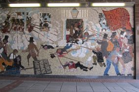 Mural depicts chartist movement a bloody battle
