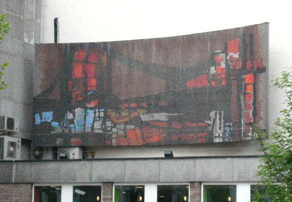 Artist unknown, mosaic mural for Newham College, East Ham, London, 1962