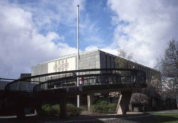 Charles Anderson's concrete mural for Greenock library, 1970
