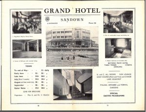 1938 brochure of the Grand Hotel