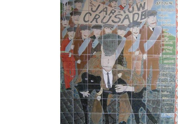 Christine Constant's mural for the Underpasses between Jarrow Town Hall and the Viking Shopping Centre, Jarrow, Co Durham