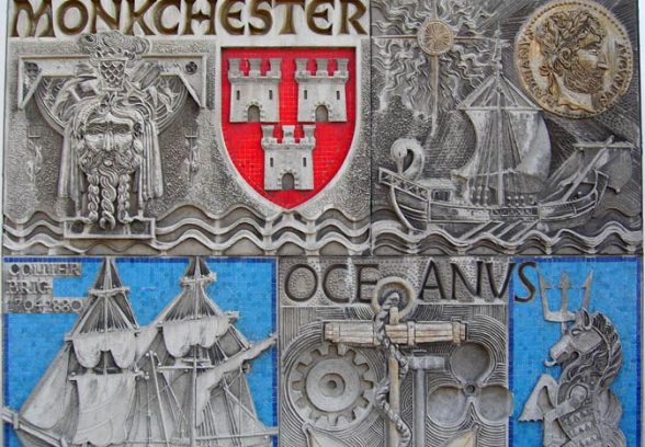 Henry Collins and Joyce Pallot's mural of Newcastle through the Ages
