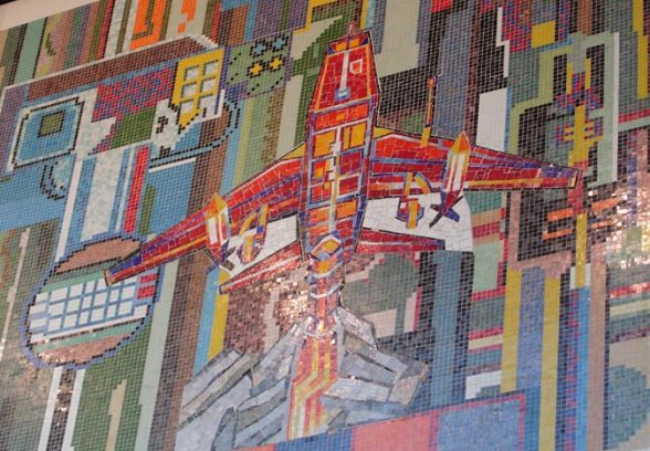 Eduardo Paolozzi's mural in Kingfisher Shopping Centre, Redditch, 1981, detail