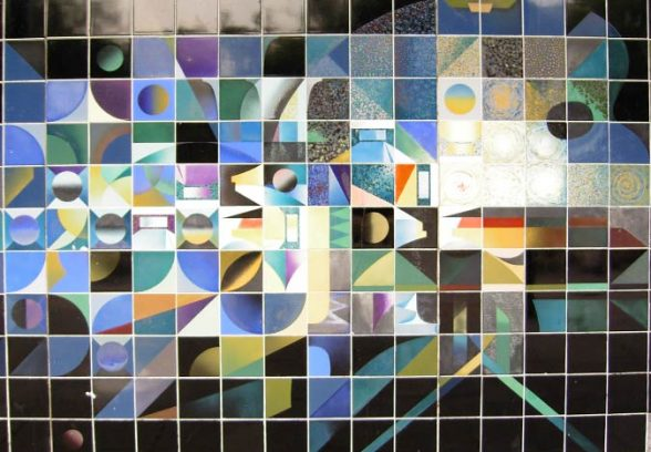 Walter Hudspith's ceramic tile mural for Sunderland Museum and Art Gallery