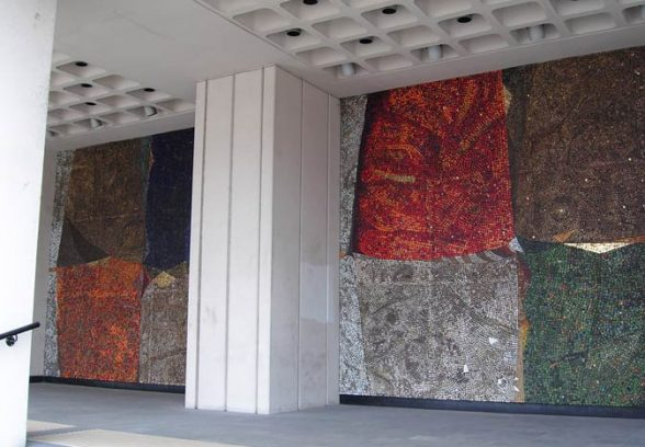 Hand Tisdall's mural The Alchemists Elements, 1967, location shot