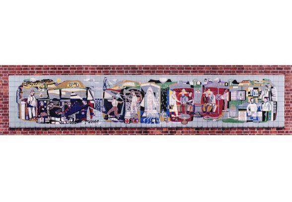 Michael Edmunds' mural for NHS in Llandough Hospital Trust, Wales, 1959