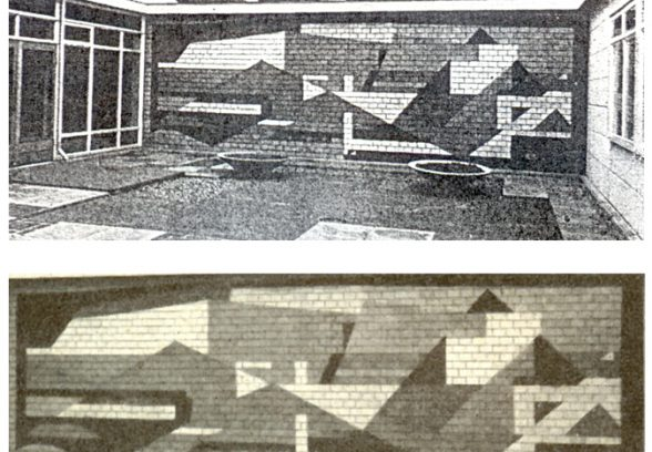 Copy print of a Dorothy Annan mural at Tuxford School, Nottinghamshire. Destroyed in the 1990s