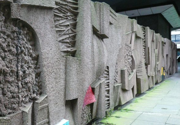 Keith McCarter, Abstract Wall Relief, concrete, 1972