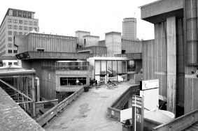 Southbank centre black and white image showing the Hayward Gallery