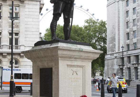Ghurka Memorial, London, Photo Sarah J Duncan
