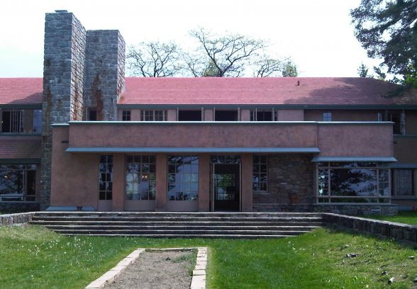 Graycliff Estate, Frank Lloyd Wright, view from the lake