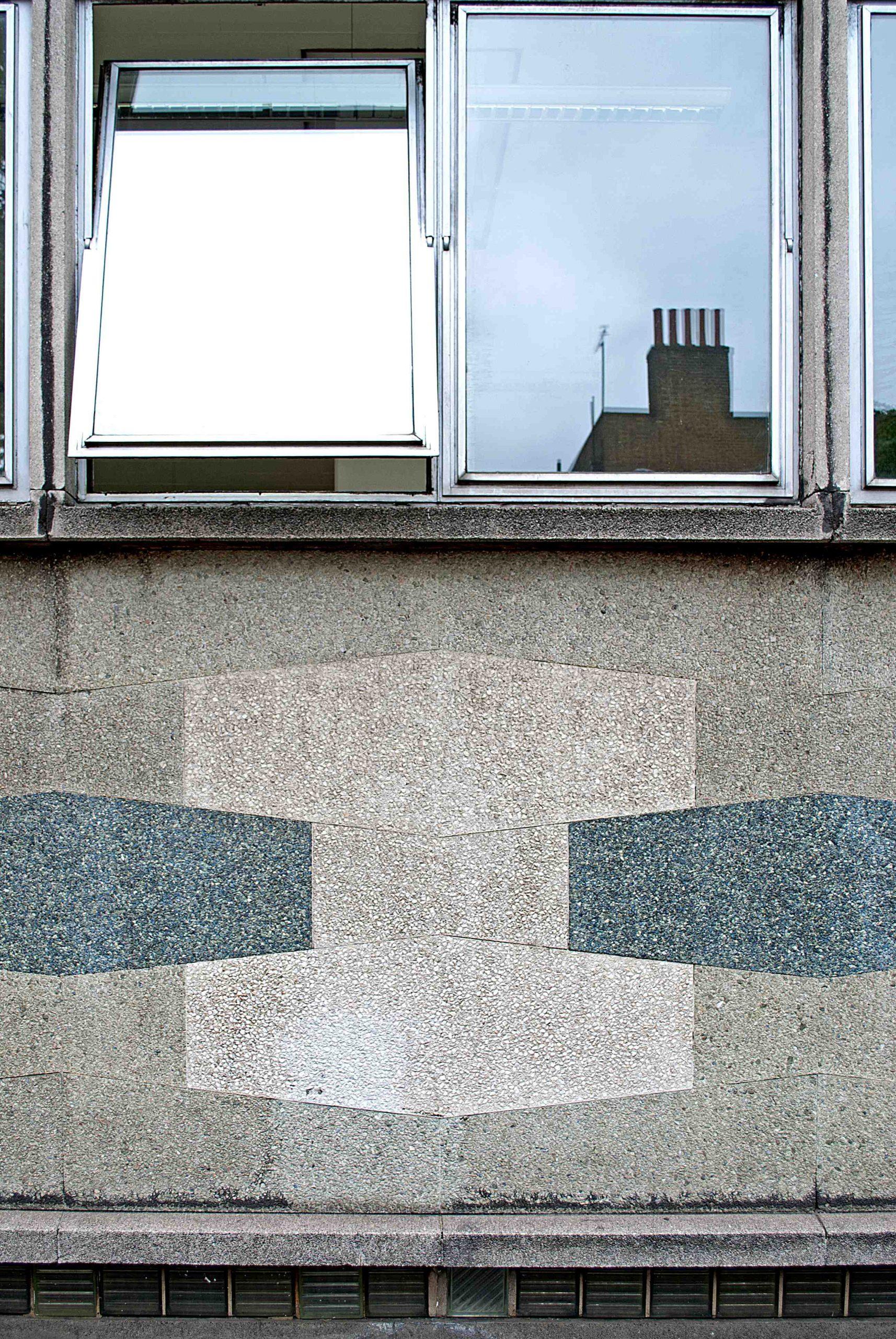 Holborn Library panels below glazing