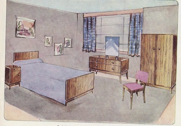 Illustration of bedroom suite from Lansbury 1951