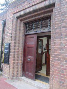 Old Gym Entrance door detail