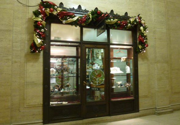 Shop window in Herbert Rowse's India Buildings