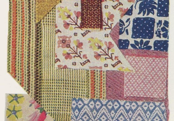 A fabric swatch from Lansbury 1951