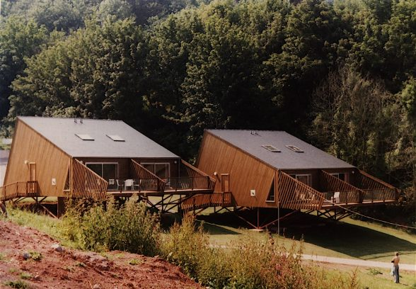 Sladnor Park holiday lodges just after completion