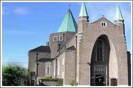 St Anthony's Roman Catholic Church, Wythenshaw by Adrian Gilbert Scott, listed Grade II